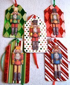 Nutcracker Hang Tags-For Nutcracker Ballet Parties, Gift Bags, Presents, Ornaments. Set of 5.. $7.50, via Etsy.