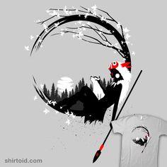"""""""Princess circle gray"""" by Albertocubatas Inspired by Princess Mononoke"""