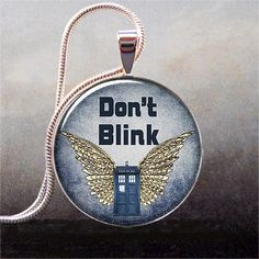 Don't Blink pendant Weeping Angels pendant by thependantemporium