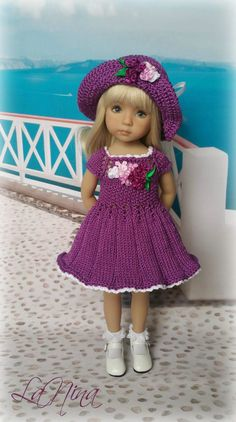 OOAK Outfit with embroidery for doll Dianna EFFNER LITTLE DARLING 13