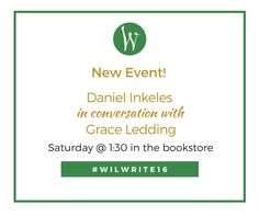 New event announcement at the Willamette Writers Conference! Daniel Inkeles (VP of International Production & Development at StudioCanal) and Grace Ledding (Founder, Agile Entertainment) in conversation next Saturday at 1:30. See you in the bookstore!