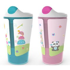 Summer Infant 2-Pack 10 oz. Grow with Me Sippy Cup in Pink, White and Blue