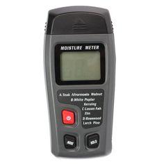 Range 0-99.9% 2Pins Digital LCD Wood Moisture Meter Humidity Tester Hygrometer