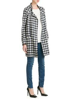 4542499adff I WANT THE COMPLETE OUTFIT Houndstooth Coat