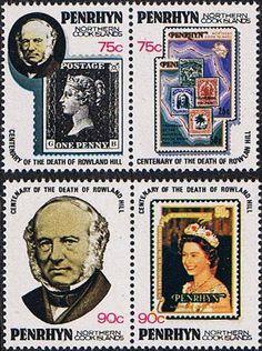 Penrhyn Island 1979 Rowland Hill Set Fine Mint SG MS 178 Scott: 166a Other Penrhyn Islands Stamps HERE