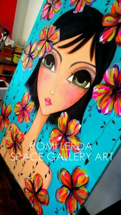 Hot Glue Art, Pop Art Girl, Mini Canvas Art, Rock Painting Designs, Turkish Art, Make Up Art, Hippie Art, Whimsical Art, Diy Painting