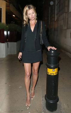 Kate Moss --all black everything