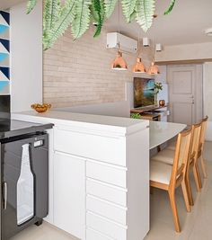 Apartamento de 65 m² projetado para receber amigos   Minha Casa