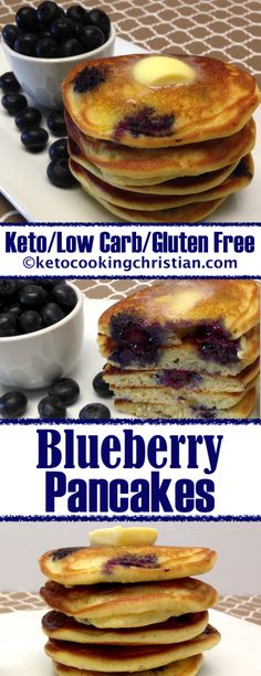 Veg Breakfast Recipes For Keto Diet Gluten Free Pancakes, Keto Pancakes, Blueberry Pancakes, Low Carb Pancakes Banana, Pancake Muffins, Blueberry Juice, Buttermilk Pancakes, No Carb Breakfast, Breakfast Recipes