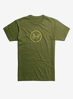 Twenty One Pilots Yellow Double Lines Logo T-Shirt Hot Topic Exclusive 874c5b074af