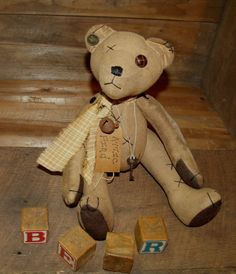 My Primitive ATTIC FIND BEAR Epattern 052 by myprimitivesaltbox, $2.50