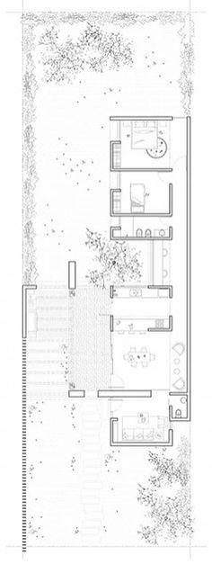 Design gable house em Valle Alegre by architects: casas unifamiliares por architects, modern - Floor Plan - Arquitetura Cultural Minecraft Architecture, Education Architecture, Architecture Plan, The Plan, How To Plan, Modern Floor Plans, House Floor Plans, Gable House, Architecture Presentation Board