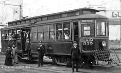 West Seattle and Luna Park Trolley Photograph (Art Prints, Wood & Metal Signs, Canvas, Tote Bag, Tow West Seattle, Seattle Times, Seattle Washington, Washington State, Local History, Train Tracks, Antique Maps, Photo Postcards, Old West