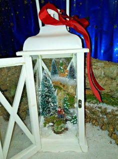 """Lanterna natalizia """"Pesca invernale"""" con luci Art. 25,15 Ladder Decor, Grande, Home Decor, Ebay, Products, Pine, Resin, Lantern, Bricolage"""