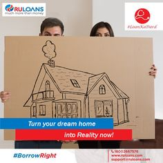 Still dreaming about your dream house? Make your dream house your own with our lowest interest rate ‪#‎HomeLoan‬ starting from 9.40%*. ‪#‎Ruloans‬ ‪#‎BorrowRight‬ For details visit - http://buff.ly/2aZwjg5