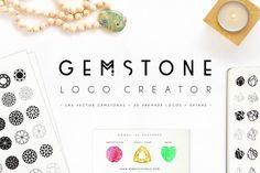 Gemstone Logo Creator by Mindful Pixels on @creativemarket