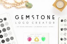 Gemstone Logo Creator by Mindful Pixels on @creativemarket