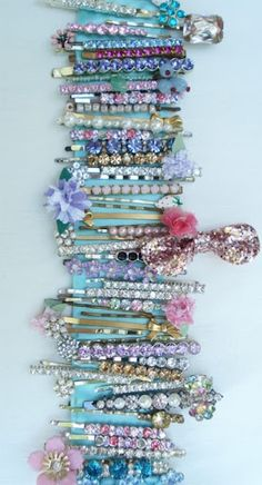 Bedazzling jewel pins to dress up even the glummest outfits
