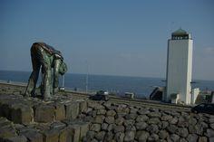 Afsluitdijk, between the Northsee and the  IJsselmeer, Netherland
