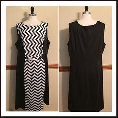 "Soldmod chevron sheath sleeveless dress Stylish printed dress has solid back. Polyester/rayon/spandex. 48-50"" bust. 50"" length. Size 3X Juniors. Would fit a 1X in Misses. EUC Intriguing Threads Dresses Midi"
