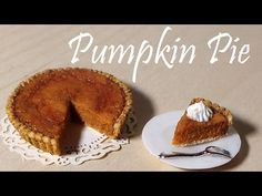 Thanksgiving Dinner #3; Pumpkin Pie - Polymer Clay Tutorial - YouTube