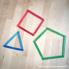 Geometriska former av glasspinnar