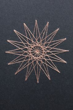 Anne's Star Notebook/Journal/Sketchbook - Sacred Geometry : Black with Dusty-Rose Thread by TheInfiniteThread on Etsy Diy Embroidered Notebook, Book Crafts, Arts And Crafts, String Art Patterns, Mandala, Paper Embroidery, Tangle Patterns, Handmade Books, Book Binding