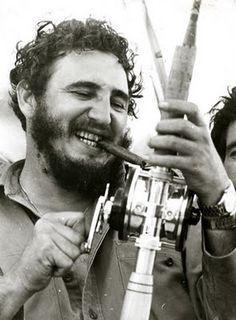 Fidel Castro, fishing