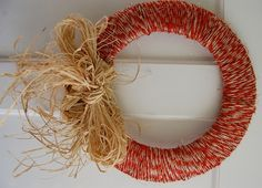 I could make this twine wreath in five seconds. But I would hang it right side up. From @parentables