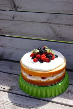 the perfect tender white cake (with whipped cream cheese frosting and berries)   Kitchen Simplicity