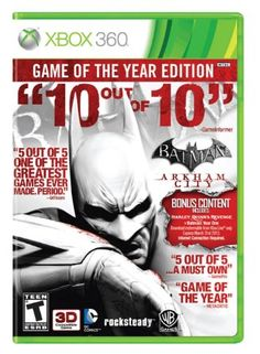 Amazon.com: Batman: Arkham City (Game of the Year Edition): Xbox 360: Video Games