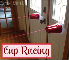 Cup Racing. Great Rainy Day Activity to burn off energy! #CraftforKids