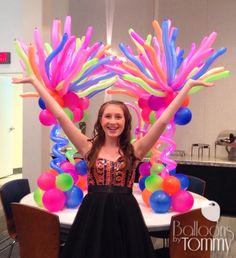 These colorful and versatile centerpieces lit up this Bat Mitzvah! Balloon Centerpieces, Balloon Decorations, Shed Decor, Rainbow Balloons, Carnival Themes, Balloon Ideas, Balloon Columns, Bar Mitzvah, Corporate Events