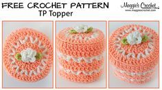 V-Stitch Toilet Paper Topper Free Crochet Pattern: http://www.maggiescrochet.com/pages/v-stitch-toilet-paper-topper-free-crochet-pattern Shop Everyday worste...
