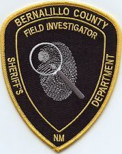 BERNALILLO COUNTY NEW MEXICO NM Forensic Crime Scene CSI SHERIFF POLICE PATCH