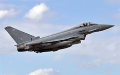Download wallpapers Eurofighter Typhoon, fighter, military aircraft, combat aviation, FGR4, Royal Air Force, RAF, Eurofighter GmbH