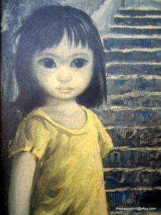 Girl of China by Margaret Keane - My grandmother had this same litho in her bedroom. This image has always given me the horrors.