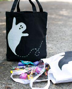 DIY Glow in the Dark Tote Bags