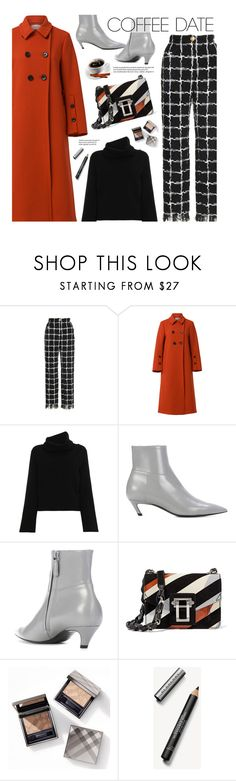 """Buzz-Worthy: Coffee Date (casual)"" by beebeely-look ❤ liked on Polyvore featuring Chloé, Balenciaga, Proenza Schouler, Burberry and CoffeeDate"