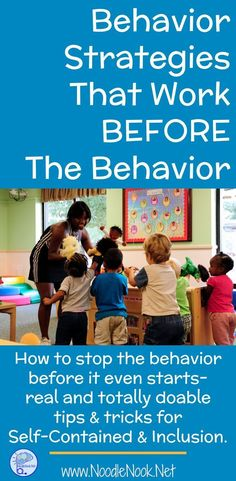 Behavior Strategies that Work BEFORE the Behavior Need tools to calm a student with Autism down before bad behaviors start? Here is a list of behavior strategies that work BEFORE the behavior! Behavior Management Strategies, Behavior Interventions, Classroom Behavior Management, Student Behavior, Autism Teaching Strategies, Classroom Behaviour, Behavior Board, Autism Learning, Child Behavior
