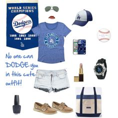 68377435da7a L.A. Dodgers outfit love love love ⚾ Let s Go Dodgers
