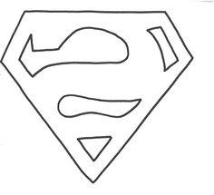 Superman Zeichen Vorlage