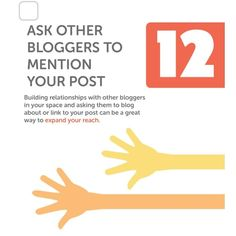 #BoostYourPost  Tip 12: Co-Promote with others in your niche.  Asking other bloggers or relevant websites to #copromote your content is a proven strategy. It gives you new reach expand your article's audience base and bring in new traffic with hopefully more followers/subscribers. #FingersCrossed.  Though before you implement it make it a habit to credit those who work for you. Writers feel good when you acknowledge 'em properly i.e. giving some liberty in #byline mentions on brand's social…