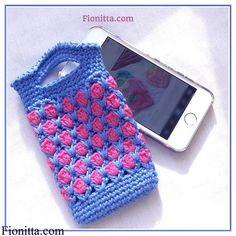 Handyhülle,  blau und rosa