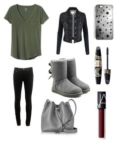 """Outfit #18"" by mylifeashope ❤ liked on Polyvore featuring Gap, LE3NO, rag & bone, UGG, Lancaster, Rianna Phillips, Max Factor and NARS Cosmetics"