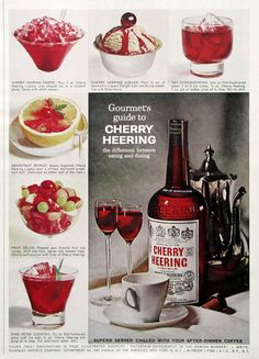 1963 Cherry Heering Liqueur ad from #RetroReveries