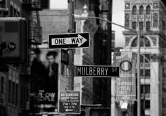 Mulberry Street 'Little Italy' NYC.