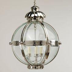 Cheyne Globe Lantern over the kitchen Pendant Lamp, Pendant Lighting, Indoor Lanterns, Glass Lanterns, Kitchen Pendants, Curved Glass, Home Lighting, Hallway Lighting, Kitchen Lighting