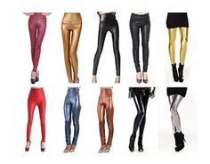 Jntworld-Womens-Faux-Leather-High-Waisted-Leggings