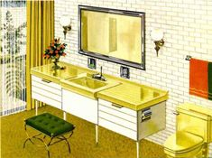 American Standard bathroom ~ Post War Vintage   From the 40s, 50s, 60s & 70s (Bathrooms from 1962)
